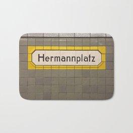 Berlin U-Bahn Memories - Hermannplatz Bath Mat