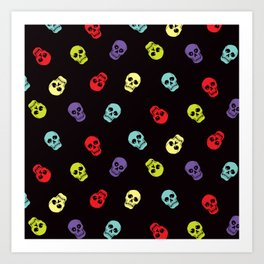 Happy skulls Art Print