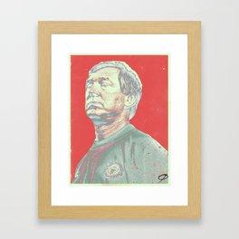 Alex Ferguson red Framed Art Print