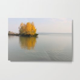 Fire on Water Metal Print