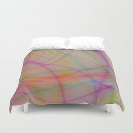 Colorful wavy lines Duvet Cover