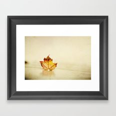 Maple grunge Framed Art Print