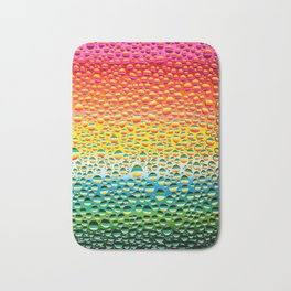 Water drops over the multicolor background Bath Mat