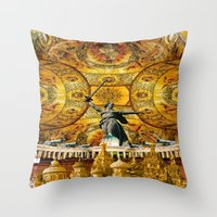 russia Throw Pillows featuring HISTORICAL RUSSIA by sametsevincer