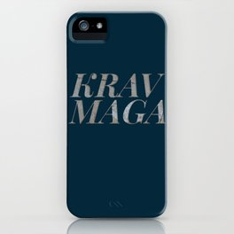 A tear in the cement | Krav Maga iPhone Case