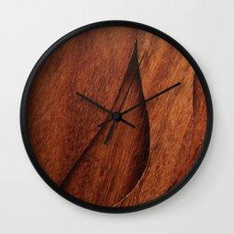 Beautiful Unique  brown wood inlay marquetry veneer design Wall Clock