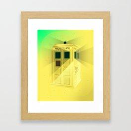 Police Box Framed Art Print