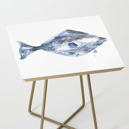 Flat Fish Watercolor Side Table