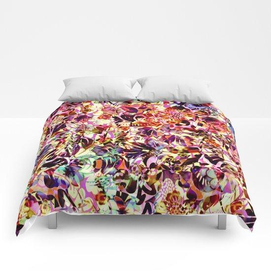 joyful abstract floral Comforters