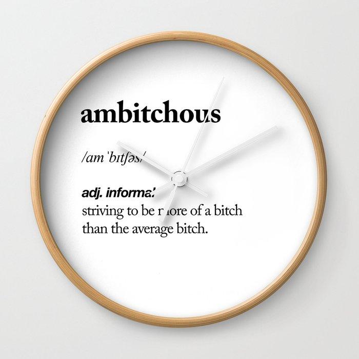 Ambitchous Black And White Contemporary Minimalism Typography Design