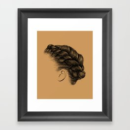 Crown: Braided Crown Framed Art Print