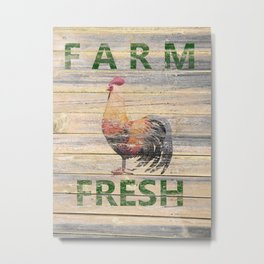 Rustic Rooster Kitchen Cafe Bistro Country Farmhouse Art USA A294 Metal Print