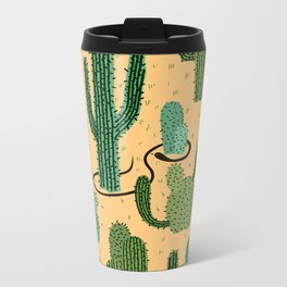 The Snake, The Cactus and The Desert Metal Travel Mug