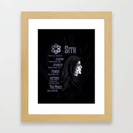 Sith code 2 Framed Art Print