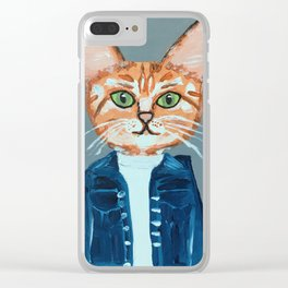 Cleo the Cat Clear iPhone Case