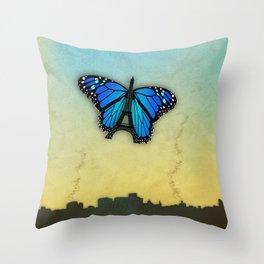 Paris' butterfly Throw Pillow
