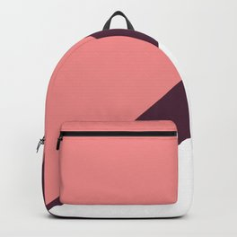 Elegant coral & burgundy geometric triangles Backpack