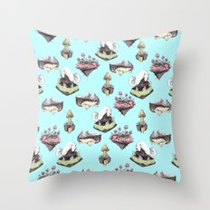 dog averywhere Throw Pillow