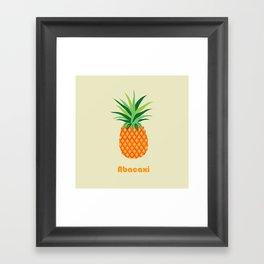 AFE Pineapple Framed Art Print