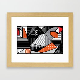 zebra finches Framed Art Print