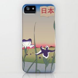 Japan Flowers travel poster iPhone Case