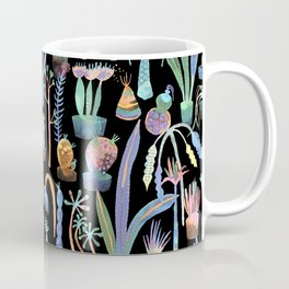 Nocturnal lush garden - Dreamy cacti and succulents plants Coffee Mug