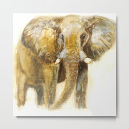 Watercolour Elephant Metal Print