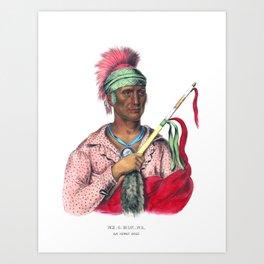 Ne-O-Mon-Ne, an Ioway chief Art Print