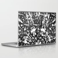music notes Laptop & iPad Skins featuring MUSIC NOTES  by raspaintings