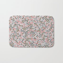 Playing cards swirl Bath Mat