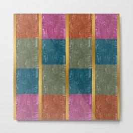 tribal mudcloth gemstone quilt 3 Metal Print