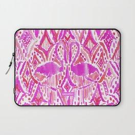 HEY FLAMINGO Pink Watercolor Tribal Laptop Sleeve