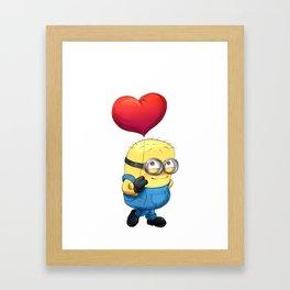 Valentine's Special- Minion Balloon  Framed Art Print