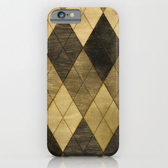 Wooden big diamond iPhone & iPod Case
