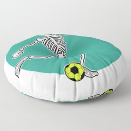 Calavera Soccer Floor Pillow