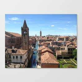 Venice Canal from Above Canvas Print