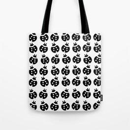 1001 Ladybirds in b&w Tote Bag