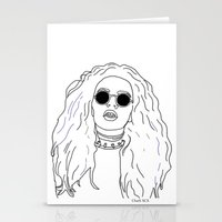 charli xcx Stationery Cards featuring Charli XCX by Borrowed Lines
