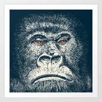 gorilla Art Prints featuring Gorilla by Lara Trimming