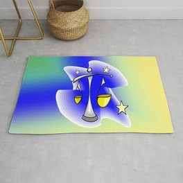Astrology, Aquarius Rug
