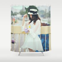 balloons Shower Curtains featuring Balloons by Aperture