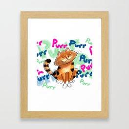 Purr! Framed Art Print