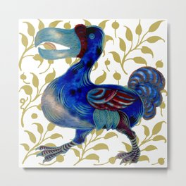"""William De Morgan """"Dodo bird"""" 3. Metal Print"""