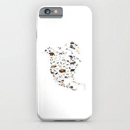 Wild North America map iPhone Case