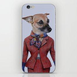 dog in uniform iPhone Skin