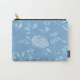 Stephanie Floral - Blue Carry-All Pouch