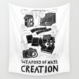 Weapons Of Mass Creation - Photography (blockprint) Wall Tapestry