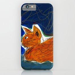 Socca Ginger Cat Art iPhone Case