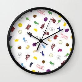 noragami pattern Wall Clock