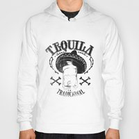 tequila Hoodies featuring Tequila Tradicional by Tshirt-Factory